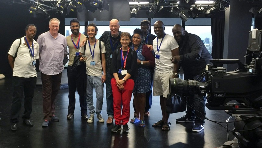 LCCA students visit news broadcasting centre at the Shard