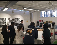 LCCA students from the BA Graphic Design course had the opportunity to visit Fedrigoni Imaginative Papers Studio in Clerkenwell Road