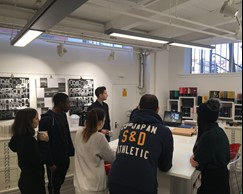 BA Graphic Design students visit Fedrigoni Papers Studio in Clerkenwell